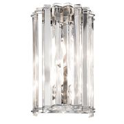 Crystal Syke Wall Light in Polished Chrome and Crystal IP44 - KICHLER KL/CRSTSKYE2